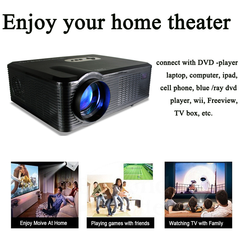 US stock low cost hot selling cheerlux CL720 digital projector with multimedia interfaces for entertainment games movies ktv(China (Mainland))