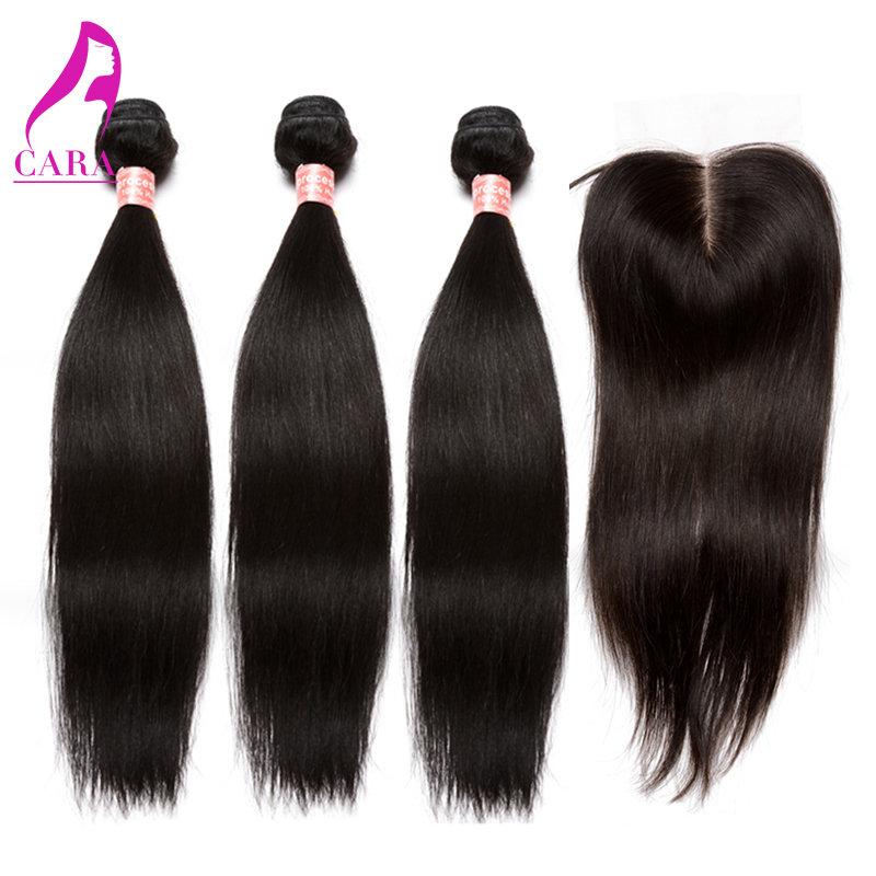 Brazilian Virgin Hair Straight With Closure Grade 6A Unprocessed Cheap Brazilian Virgin Hair Bundles With Lace Closure 4Pcs Lot<br><br>Aliexpress