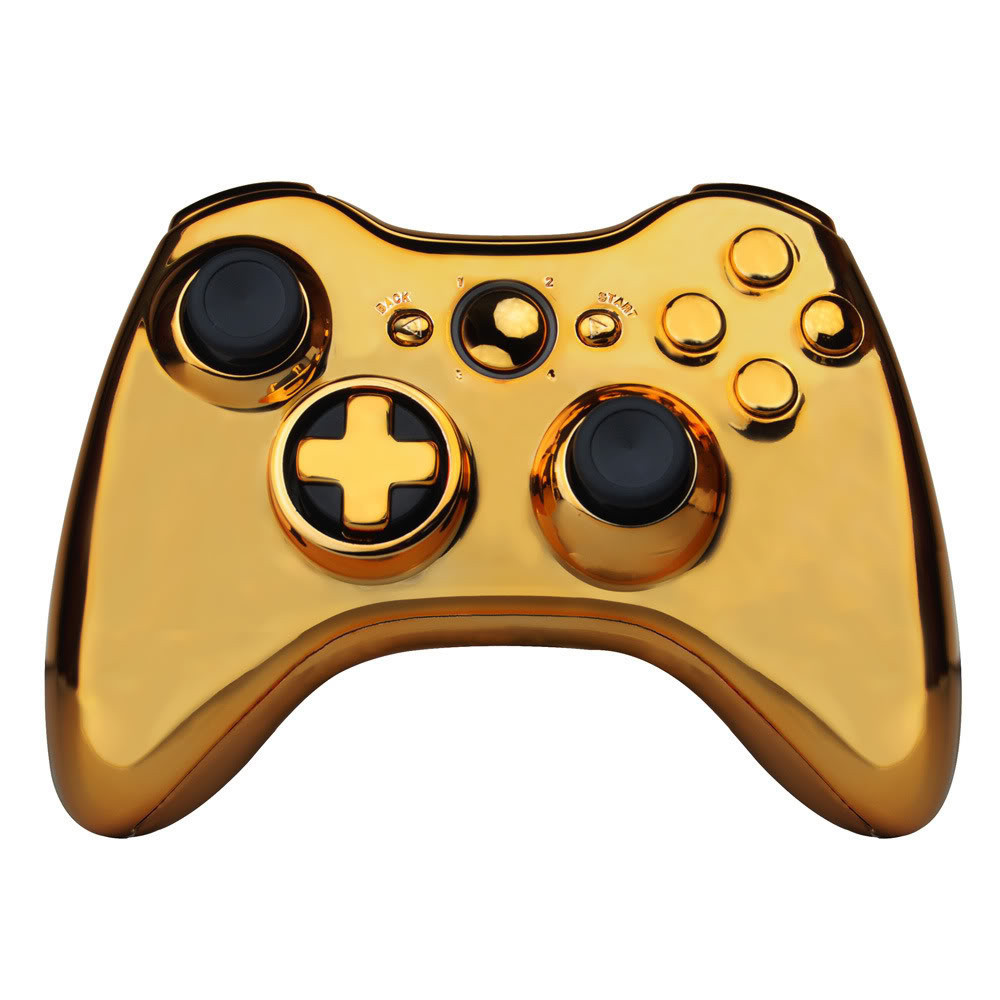 Gold Full Controller Shell Case Housing for Microsoft Xbox 360 Wireless Controller(China (Mainland))