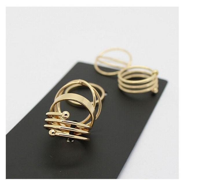Hot Unique Ring Set  Punk Золото Plated Knuckle Rings for Женщины Finger Ring 6 PCS Ring Set Best Selling 2015 M12