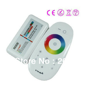 New 2.4G LED RGB Wireless RF Controller Touch Screen Dimmable Remote DC12 -24V