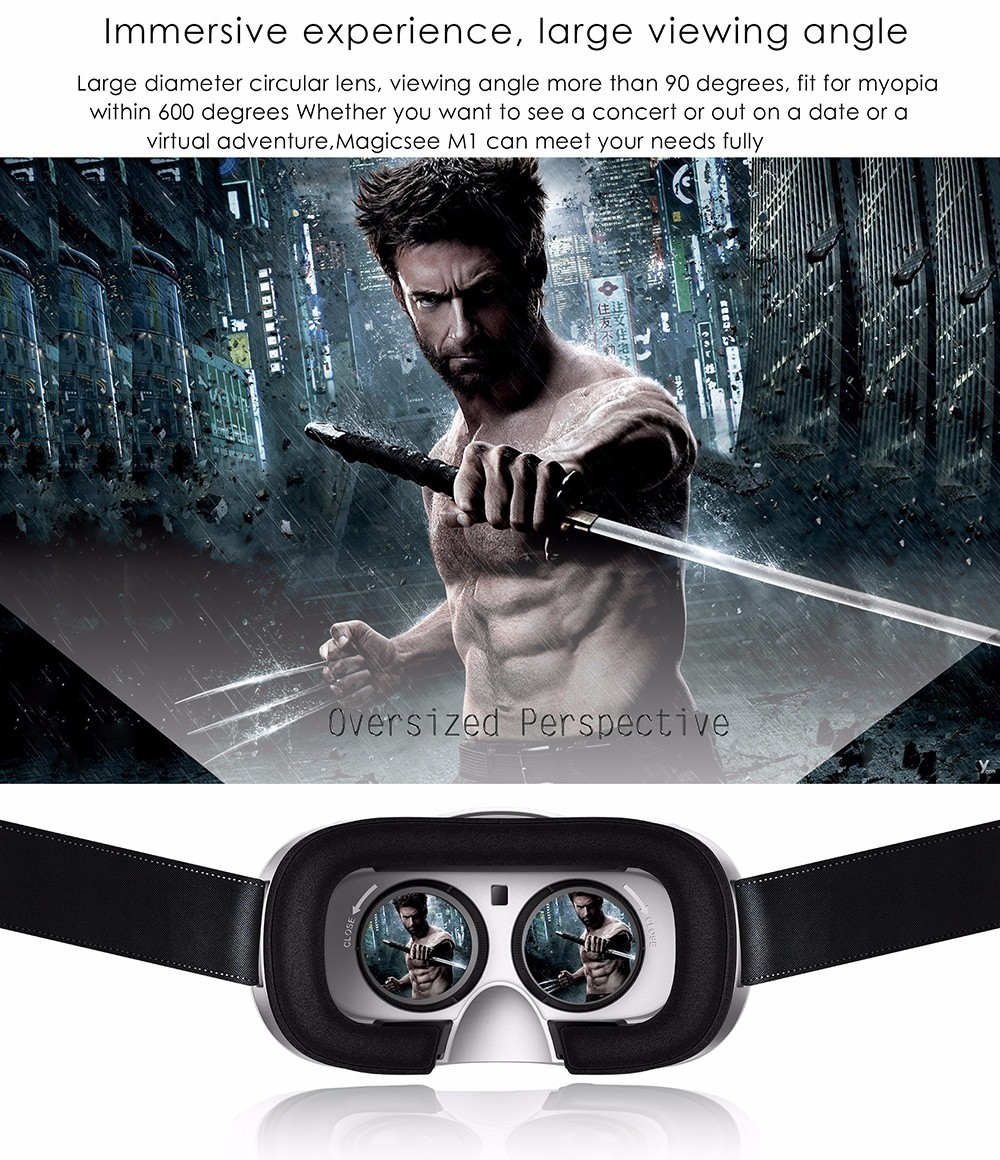 mi ALL-IN-ONE VR Virtual Reality 3D Glasses Android  Full HD 2G/16G Bluetooth BT 4.0 wifi card connection handle multi-function