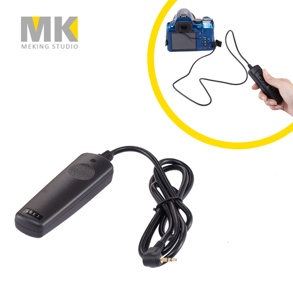 Selens RS-60 E3 Cable Shutter Release Timer Remote control for Canon CONTAX PENTAX Samsung 60D 70D 600D 650D EOS 300D 350D 450D(China (Mainland))