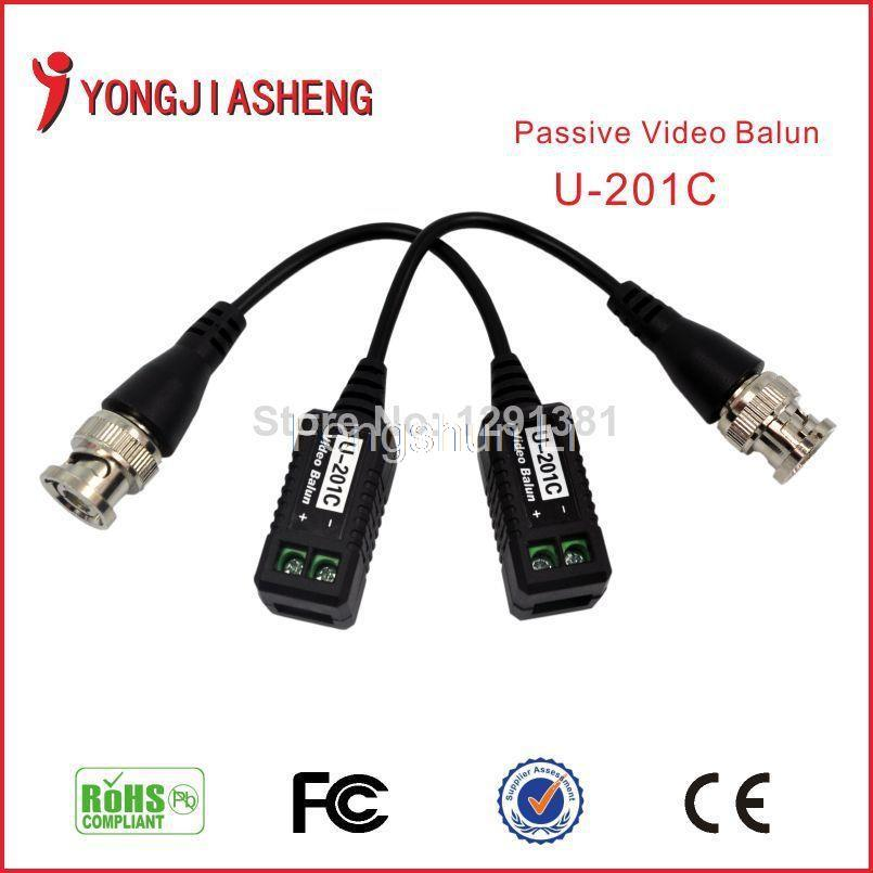 BNC UTP RJ45 Video Balun with Audio Video and Power over CAT5 Cable CCTV Camera Audio Video Balun Transceiver<br><br>Aliexpress