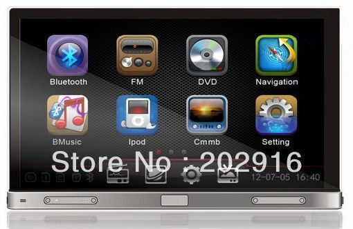 PROMOTION!!! 7'' 2 DIN universal car DVD player DH7050 with GPS/DVD/radio/Bluetooth/TV/steering wheel control