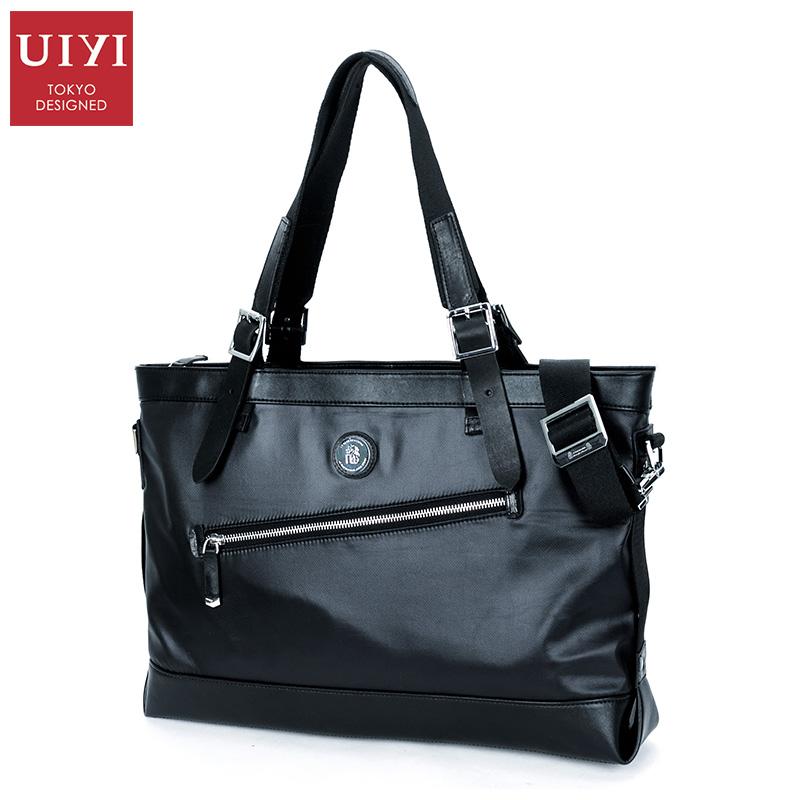 UIYI Brand Man Bags Premium Mens Nylon Shoulder Bag Business Dress Male Black Large Capacity Laptop Handbags & Crossbody Bags(China (Mainland))