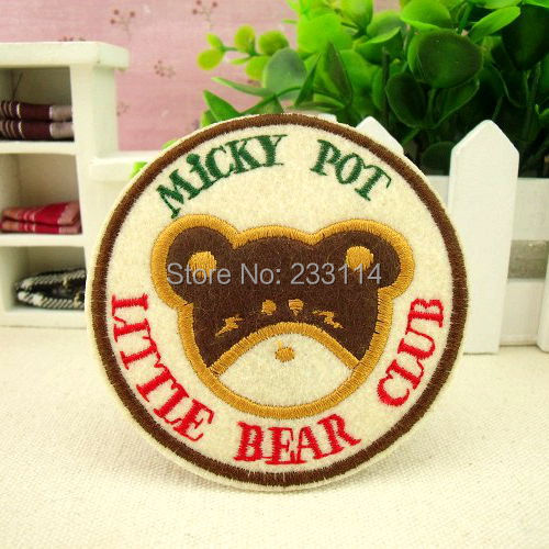 Clothes cloth patch Cartoon Bear badge ironing applique embroidery scrapbooking iron-on patch military patch frozen party favors(China (Mainland))