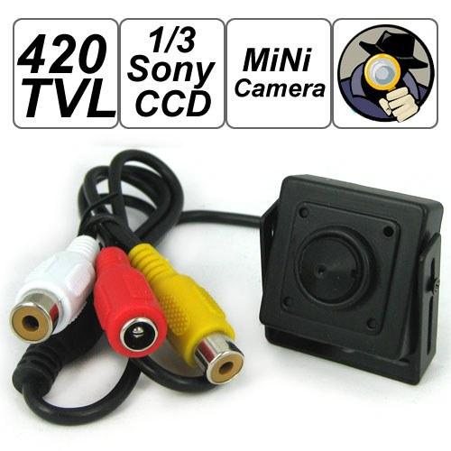 420 TVL 1/3 Color Sony CCD Mini Surveillance Camera, Security CCTV Video Camera Support Audio(China (Mainland))