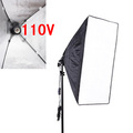 Photography Studio Softbox Kits 110v 50x 70cm Folding Easy Softbox with 200cm Light Stand Photo Studio