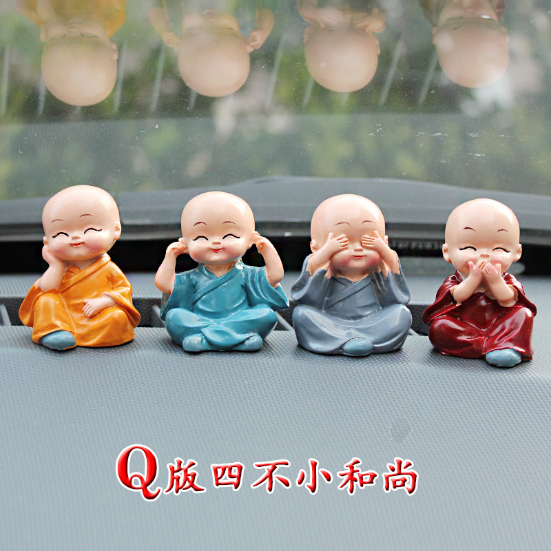 4pcs/set Kung Fu little monk figures doll toy models anime car decoration figure pet shop action figures toy doll baby toys(China (Mainland))