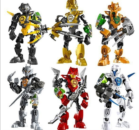 6pcs/lot Decool Hero Factory 3.0 Star Soldier NEX/FRNO/AULK/STRINGER/ROCKA/STORMER 3D action figures building block sets toys(China (Mainland))
