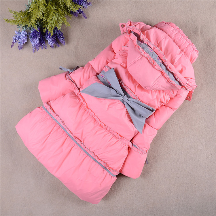 New 2015 Children Winter Clothing Outdoor Girls Down &amp; Parkas Fashion Beautiful Coat Warm Jacket For Female Child<br><br>Aliexpress