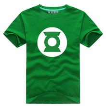 2015 Fashion summer style Green Lantern t shirt Men cotton men tshirt Top quality print t shirt, men's short shirt