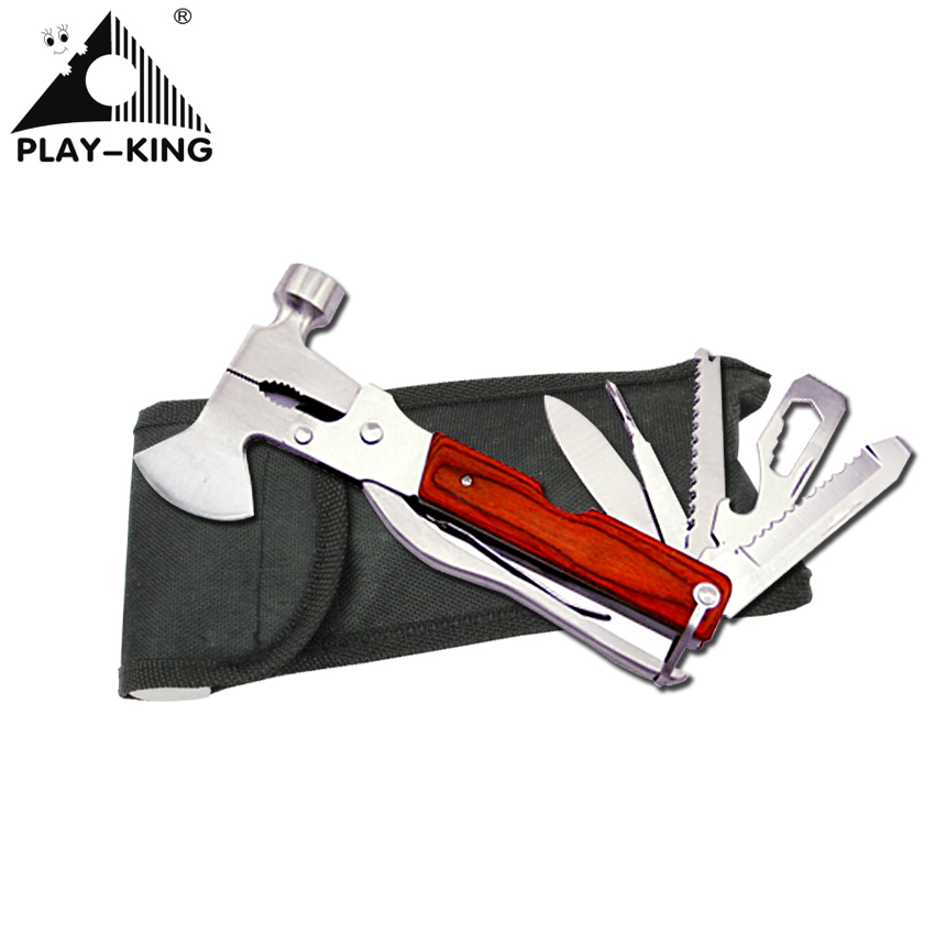 Outdoor multifunctional combination axe wrench stainless steel folding knife tools multi purpose wild life saving