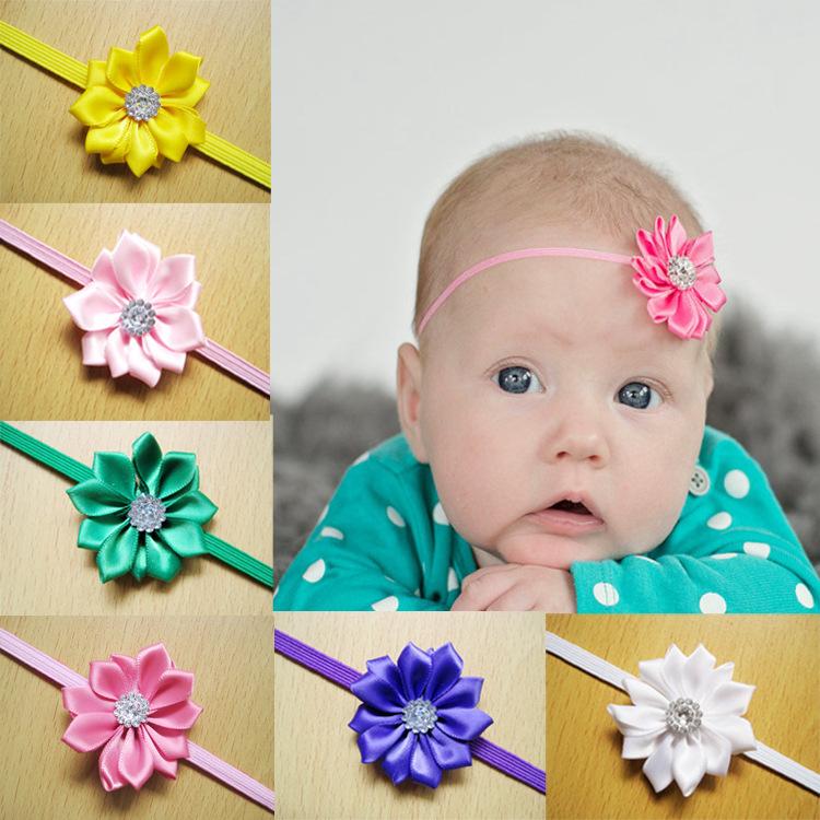 Aliexpress.com Comprar Regalos gratis navidad del envío venda de la flor infantil accesorios para el cabello niñas diadema niño cintas para el pelo de