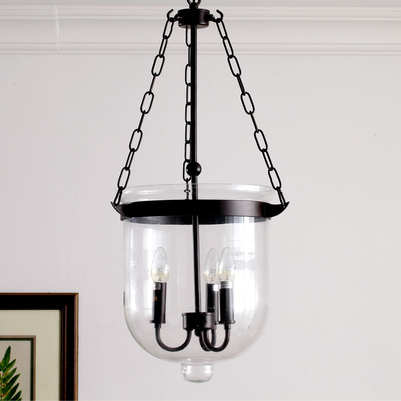 American Ikea Vintage Chandelier Wrought Iron and White Glass stone Lustres Chimney Lamp Shade Up Indoor Lighting Art Deco(China (Mainland))