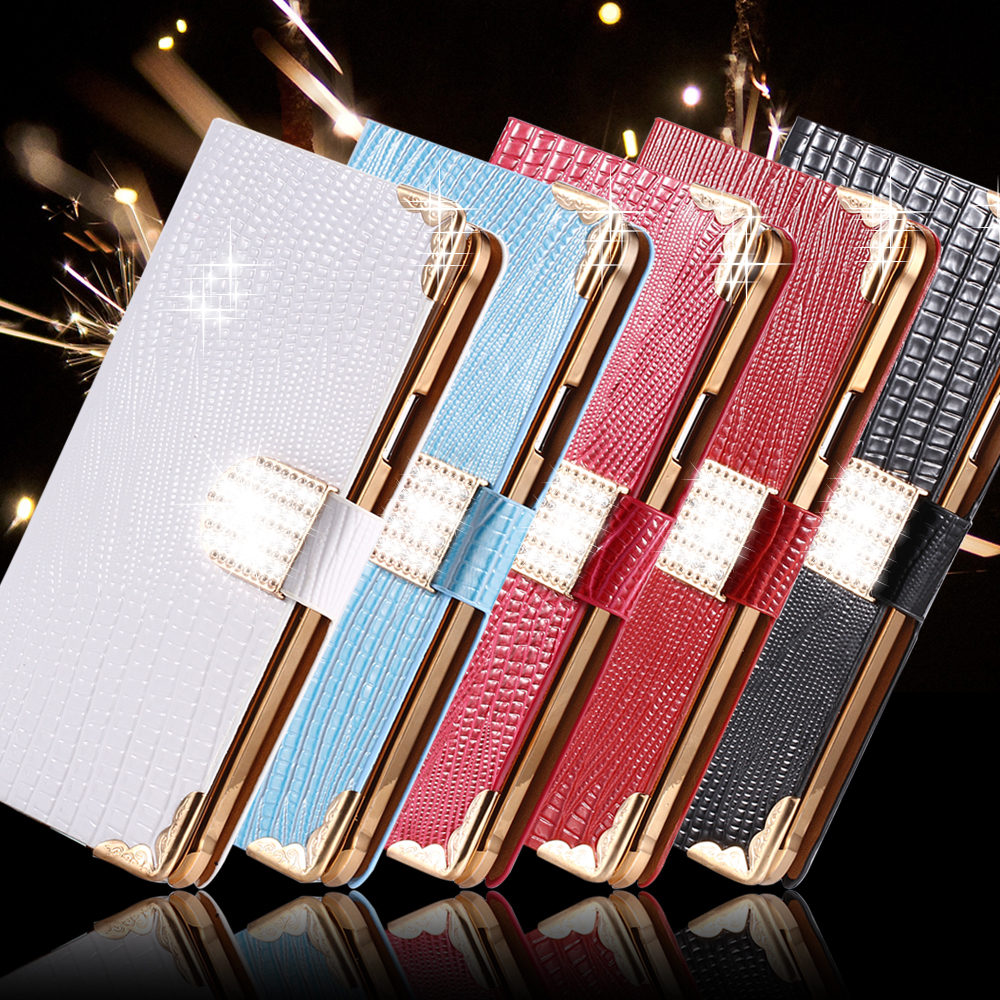 Note 4 Luxury Glitter Crystal Diamond PU Leather Case For Samsung Galaxy Note 4 N9100 Stand Wallet Holster Phone Cover 1pcs/lot(China (Mainland))