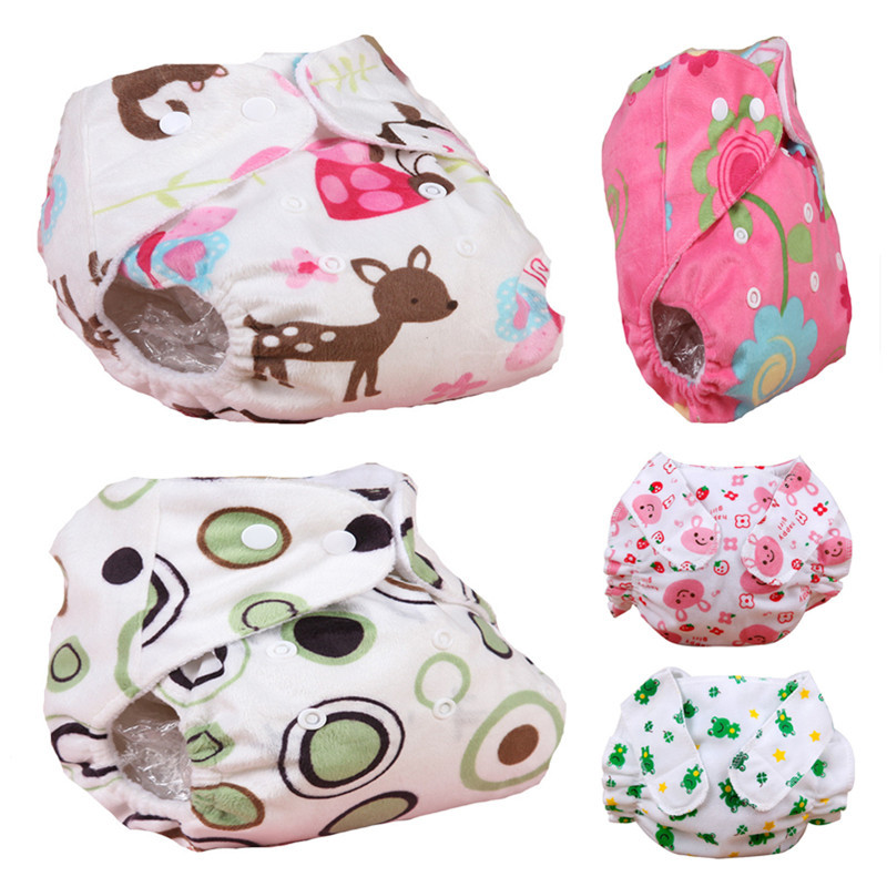 24Styles Lovely Baby Reusable Diapers Newborn Nappies Washable Cloth Diaper Infant Nappies Soft Covers Winter Summer Style(China (Mainland))