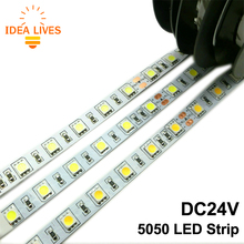DC24V LED Strip 5050 Flexible LED Light RGB LED Strip 60LEDs/m 5m/lot.(China (Mainland))