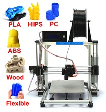 100% Brand new Model Upgraded Prusa i3 DIY 3d Printer kit High Precision Reprap kits extruder free shipping