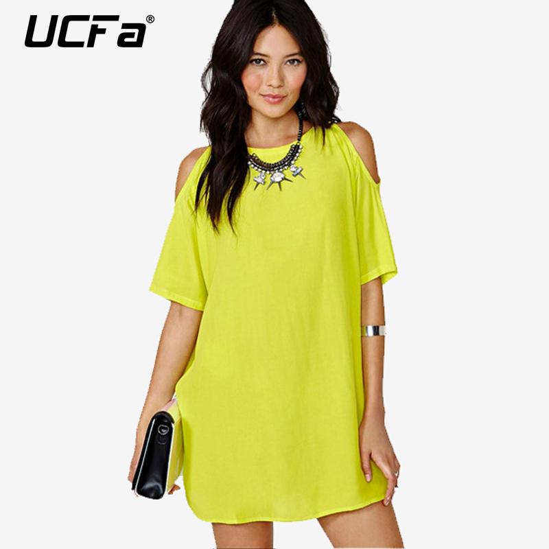 S-XXL Plus size Solid Casual Strapless Dress Women's Loose Chiffon Summer Dresses Short sleeve Vestidos Female - BossyLady store