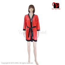 Hot! Sexy Latex Rubber Bathrob Robe cape matrix Smugger Swinger coat Top Jumpsuit Catwomen Leotard Gummi Zentai(China (Mainland))