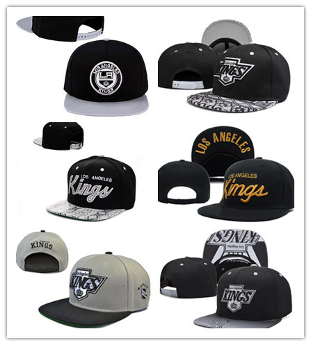 product NHL Caps Los Angeles Kings Baseball Caps Kings Hockey Hats LA Kings Hip Hop Bone Hats Black White Blue Free Shipping