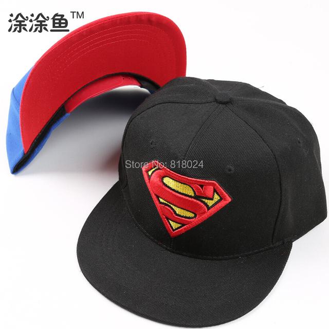 Унисекс без орнамента бейсболки, Супермен бэтмен logo хип-хоп хлопок фуражке шляпа, Свободного покроя на открытом воздухе путешествие снэпбэк sunhat