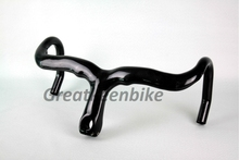 free shipping! most Full carbon road carbon red handlebar integrated with stem parts caliber 28.6mm