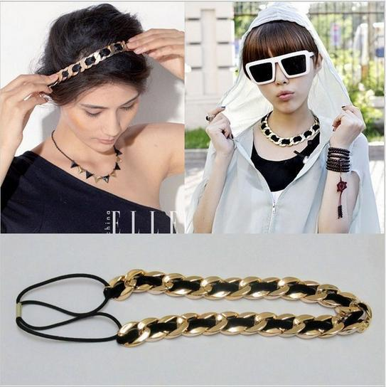 2015 Hot Selling Head Chain Hair Band Exaggerated Women Headband Head Jewlery CMF009(China (Mainland))
