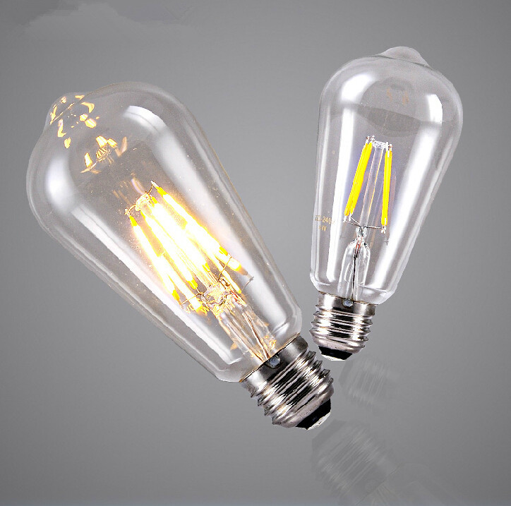 NEW ARRIVAL ST64 DIMMABLE FILAMENT EDISON LED BULB 4W E27 85-265V AC110-240V 100LM/W WARM WHITE<br><br>Aliexpress