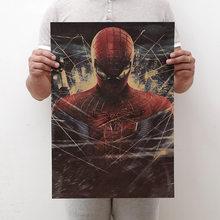 Figuras Marvel Avengers Brinquedos Endgame 4 Spiderman Homem de Ferro Os Vingadores Brinquedo de Papel Kraft Vintage Home Decor Art Estampas Retrô presente(China)