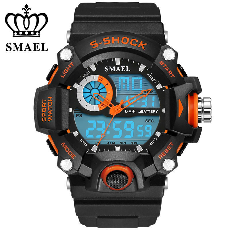 SMAEL Watches Mens Led Digital Watch Men Sports Military Army Wristwatches Male Analog S Shock Resistant Clock Men Reloj Hombre(China (Mainland))