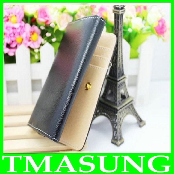 Wallet pu Leather Case Cover For Gionee GN868 GN878 newman n1 4.3 inch android phone 3 color(China (Mainland))