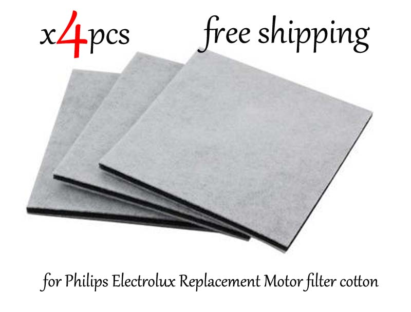 4Pcs Lot Vacuum Cleaner HEPA Filter for Philips Electrolux Replacement Motor filter cotton filter wind air