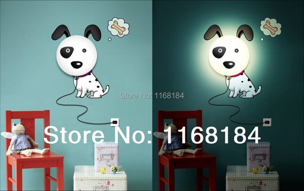 3D Removable Wall Decoration Sticker Light DIY Kids' Bedroom Night Lamp Kids favourite chandeliers 110-220v wholesale(China (Mainland))