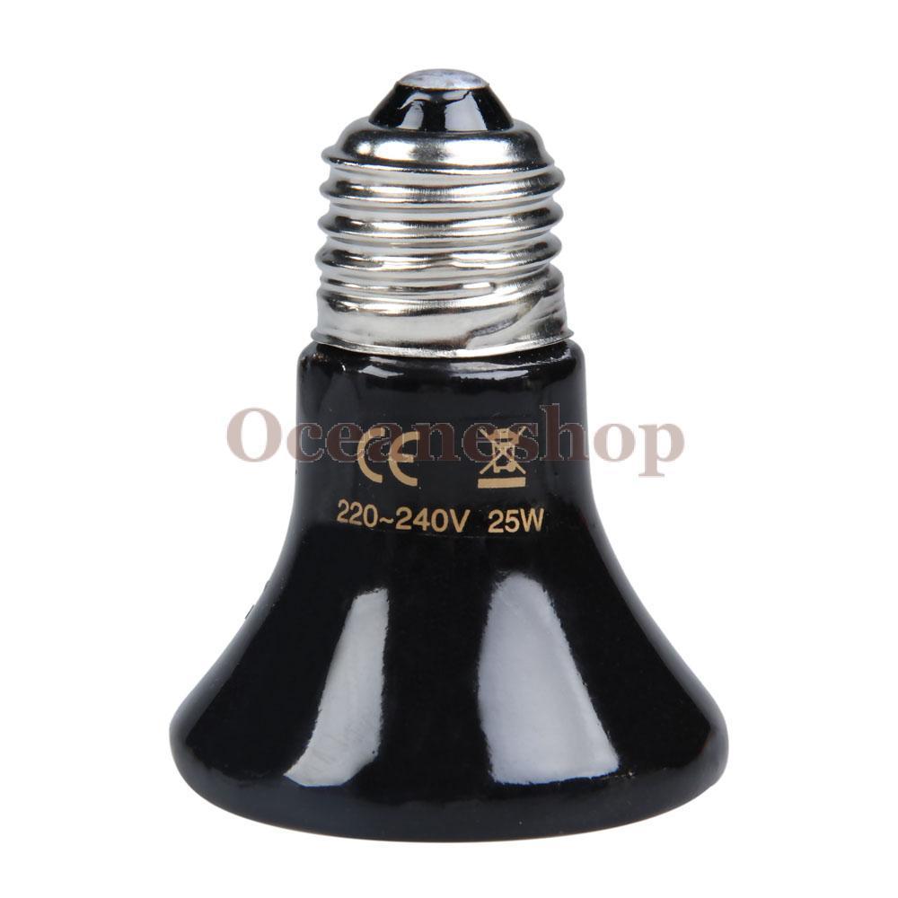 OCEA 25W 85mm Mini Black Ceramic Heat Infrared Lamp Bulb(China (Mainland))
