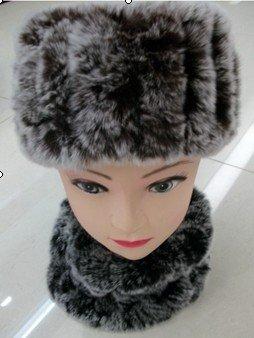 Autumn Winter Women's Genuine Natural Knitted Rex Rabbit Fur Headband Lady Neckwear Scarf QD5449(China (Mainland))