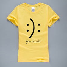Buy Decide Funny T Shirts Women 2017 Summer Creative T-Shirt Harajuku Tops K-pop Kawaii T-Shirt Short Sleeve O-neck Tops Tees for $4.20 in AliExpress store