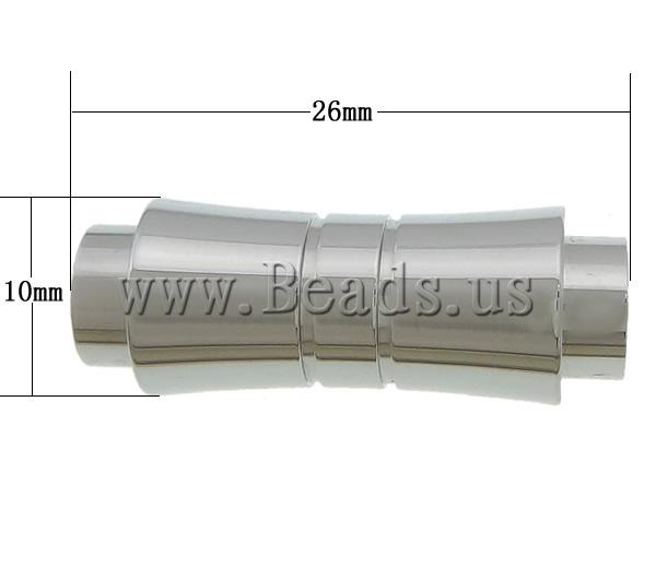 Free shipping!!!Stainless Steel Magnetic Clasp,creative jewelry, 304 Stainless Steel, oril color, 26x10x8.50mm