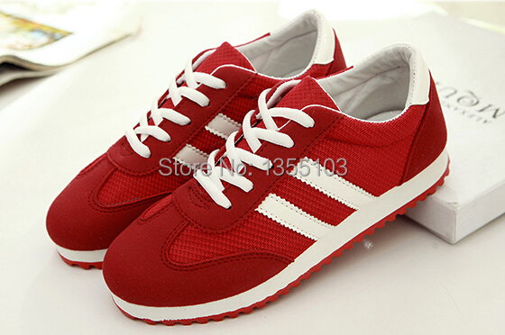 Hot 2014 new women 's Sneakers Fashion Casual Sports Canvas shoes Running lady flat size 35 -- 40 - Alpple store