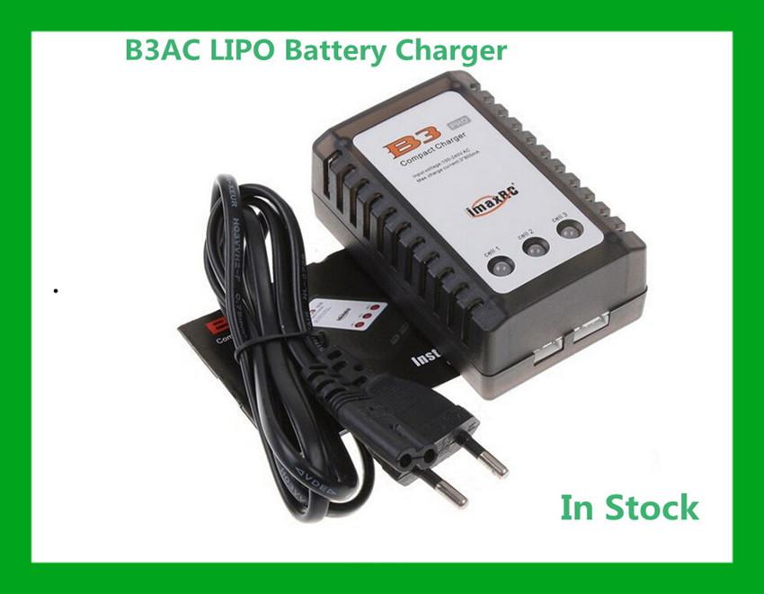 Free Shipping RC IMAX B3AC LIPO Battery Charger B3 7.4v 11.1v Li-polymer Lipo Battery Charger 2s 3s Cells for RC LiPo EU US PLUG(China (Mainland))