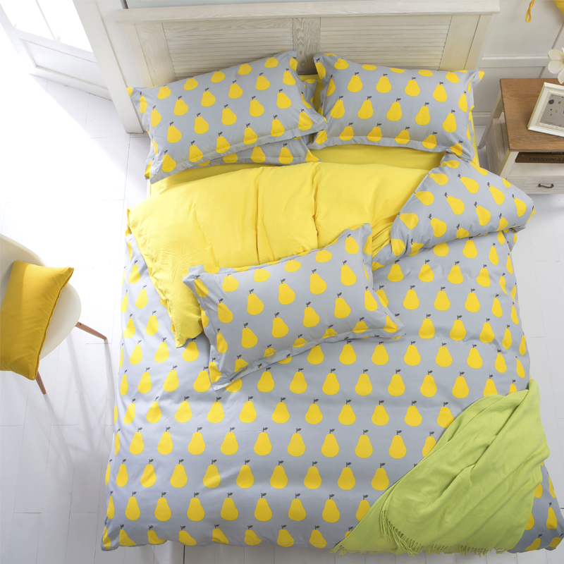 cotton/polyester microfiber Duvet Cover Set 1pc Duvet Cover 1pc Bed Sheet Set 2pcs Pillowcase Full/Queen/King Size Bedding Set(China (Mainland))