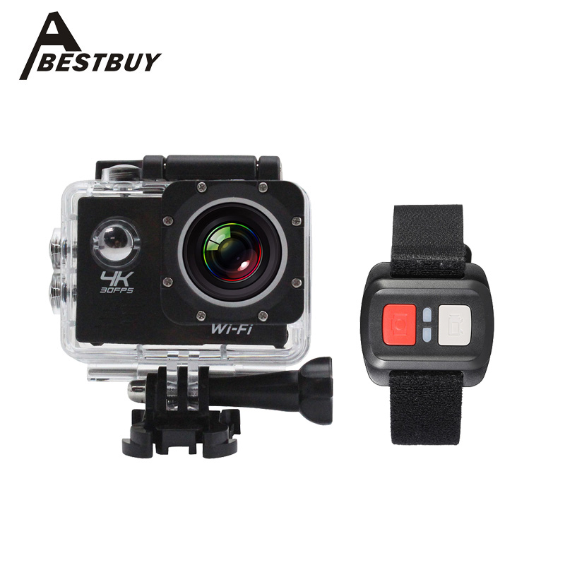 """2"""" LCD Screen 4K 1080P Wifi Action Camera 16MP 4X Zoom Waterproof 30M Sports DV Mini Video Camcorder Car DVR with Remote Control(China (Mainland))"""