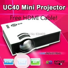 UC40+Plus Mirco Led Projector Home Theater Proyector beamer Support HDMI VGA AV USB 1080P Digital Projetor For PS3 Xbox(China (Mainland))
