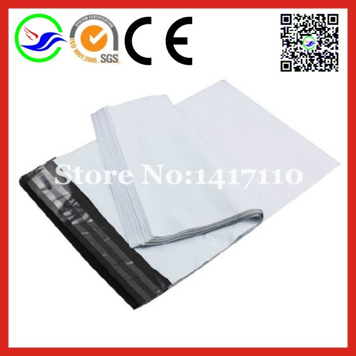 100pcs 10.2X19.3cm(4x7.6inches)White Plastic Shipping Mailers Self Seal Shipping Envelopes Poly Mailing Bags FREE Shipping bags(China (Mainland))
