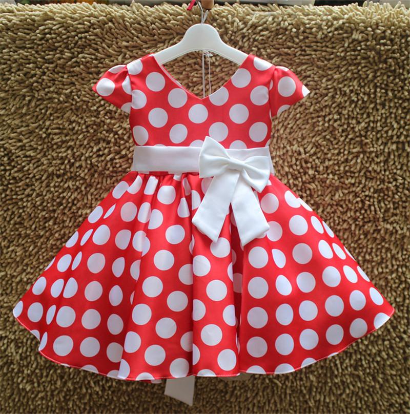 Retail! New Arrival Girl dress Cute girl princess big party Dress baby girl Dot wedding party dress free shipping MK-320<br><br>Aliexpress