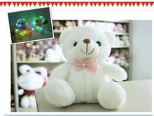 Il nuovo 20 cm colorato luminoso peluche orso giocattolo regali di natale per i bambini giocattoli bambola della peluche di trasporto libero(China (Mainland))