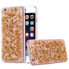 I6 6S Plus Fashion Gold Foil Soft Slicon Cases Bling Sequin Phone Cover Apple iPhone 6 4.7/For iphone 5.5 Case - Shenzhen Beike Co.,ltd store