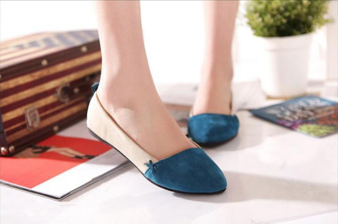 2016 New Hit Color Suede Rubber 3 Colors Summer Casual Pointed Toe Slip on Low Heel Flat Shoes For Women CXD-178<br><br>Aliexpress